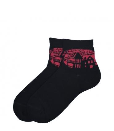 جوراب نیم ساق پاآرا طرح هالووین سرخابی