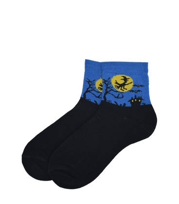 جوراب نیم ساق پاآرا طرح هالووین آبی