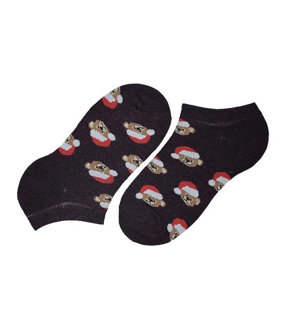 جوراب مچی پاآرا طرح خرس کریسمس زرشکی