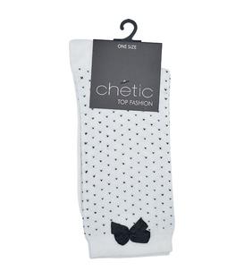 جوراب Chetic چتیک طرح خال خالی پاپیون دار