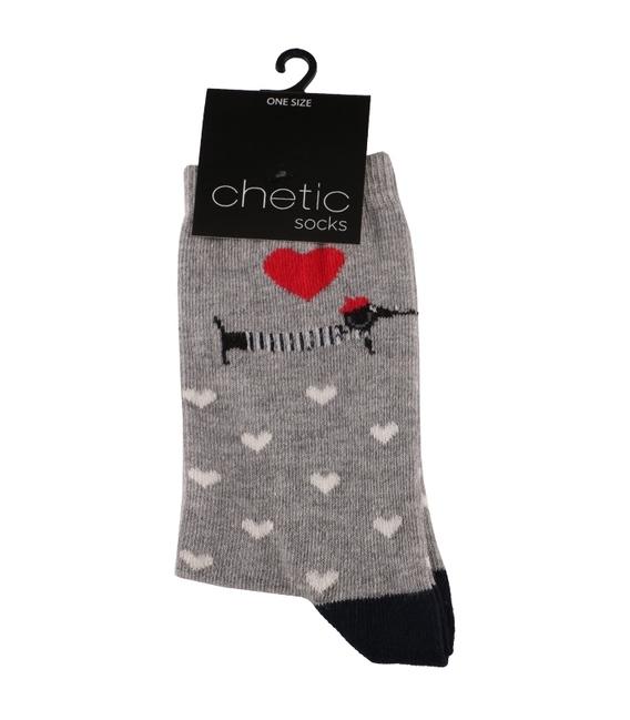 جوراب ساق دار Chetic طرح سگ سوسیسی