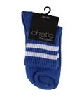 جوراب نیم ساق Chetic چتیک طرح دو خط آبی سفید