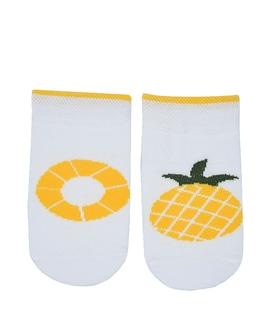 جوراب بچگانه پاآرا طرح آناناس سفید