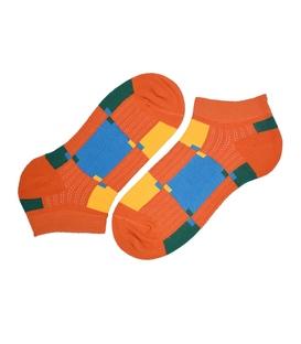 جوراب مچی پاآرا طرح رنگارنگ نارنجی آبی