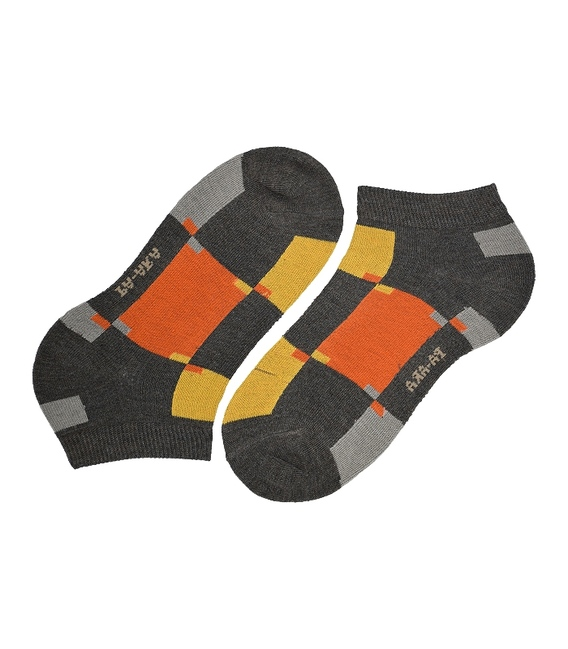 جوراب مچی پاآرا طرح رنگارنگ قهوهای نارنجی