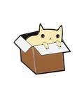 پین Hiuman طرح گربه در جعبه