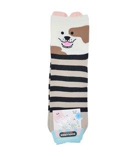 جوراب نیم ساق گوشدار طرح سگ با نمک