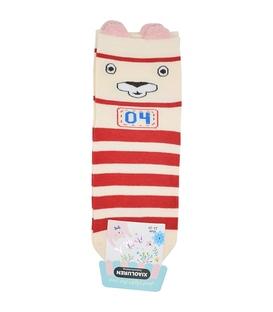 جوراب نیم ساق گوشدار طرح خرس ورزشکار