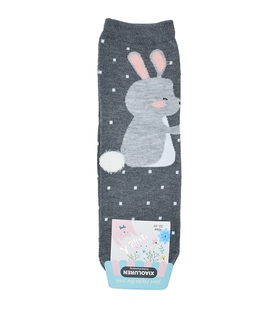 جوراب نیم ساق طرح خرگوش دم سفید