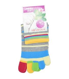 جوراب انگشتی راه راه خاکستری