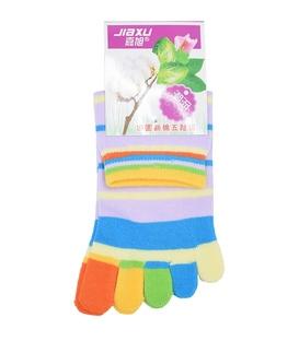 جوراب انگشتی راه راه بنفش