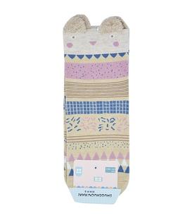جوراب نیم ساق گوشدار طرح خرس موزاییکی