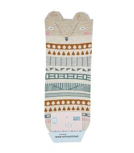 جوراب نیم ساق گوشدار طرح راکن هندسی