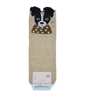 جوراب نیم ساق گوشدار طرح سگ ستاره دار
