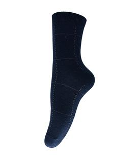 جوراب پشمی طرح چهارخونه سرمهای