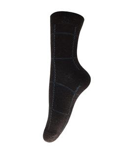 جوراب پشمی طرح چهارخونه قهوهای