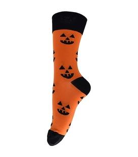 جوراب فانی ساکس طرح هالووین نارنجی کد 199