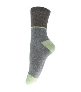 جوراب پشمی طرح کلاسیک خاکستری قهوهای