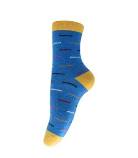 جوراب پشمی خط دار آبی