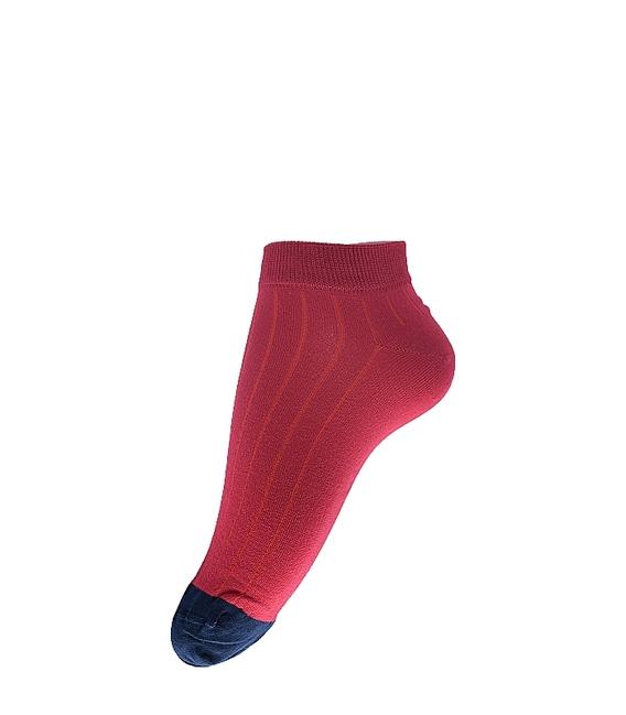 جوراب مچی فانی ساکس طرح دو رنگ قرمز سرمهای کد 617