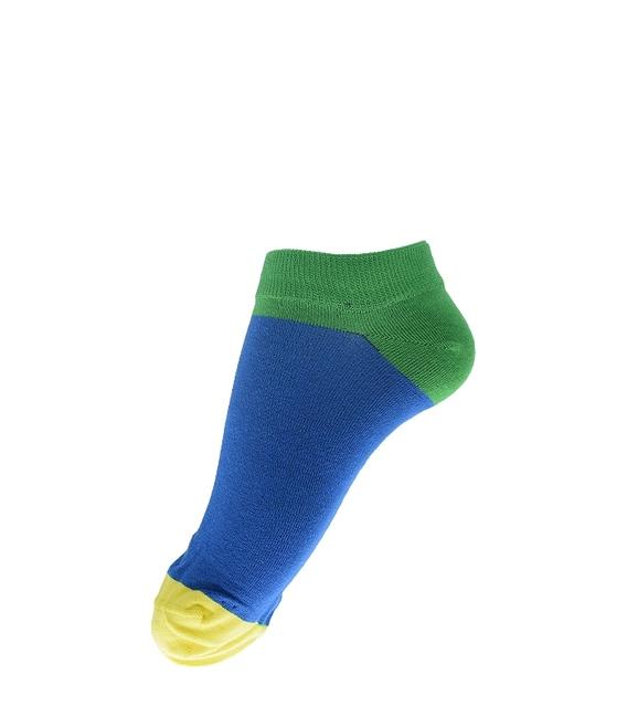 جوراب مچی فانی ساکس طرح سه رنگ آبی سبز کد 618