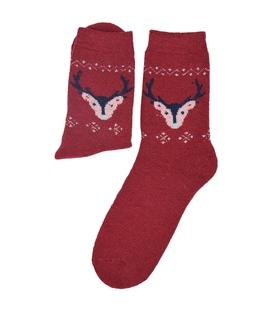 جوراب پشمی Coco & Hana طرح گوزن قرمز
