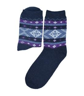 جوراب پشمی Coco & Hana طرح برف سرمهای