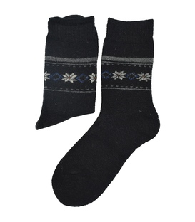 جوراب پشمی Coco & Hana طرح برفی مشکی