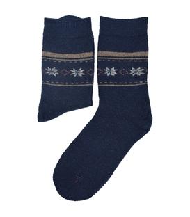 جوراب پشمی Coco & Hana طرح برفی سرمهای