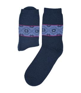 جوراب پشمی طرح هندسی سرمهای