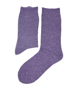 جوراب پشمی آنگورا بافت Coco & Hana ساده بنفش