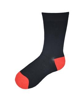 جوراب ساقدار پاآرا طرح دو رنگ مشکی قرمز