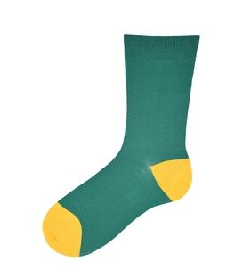 جوراب ساقدار پاآرا طرح دو رنگ سبز زرد
