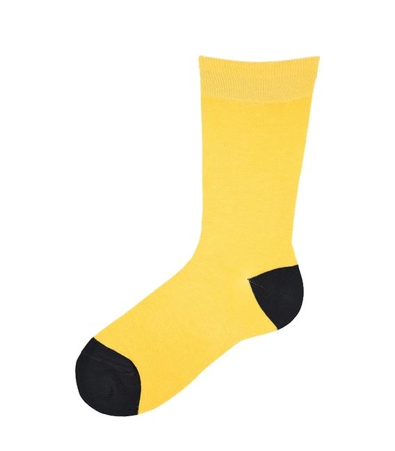 جوراب ساق بلند پاآرا طرح دو رنگ زرد مشکی