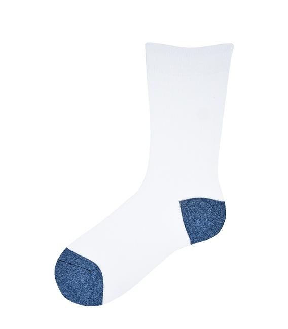 جوراب ساق بلند پاآرا طرح دو رنگ سفید سرمهای