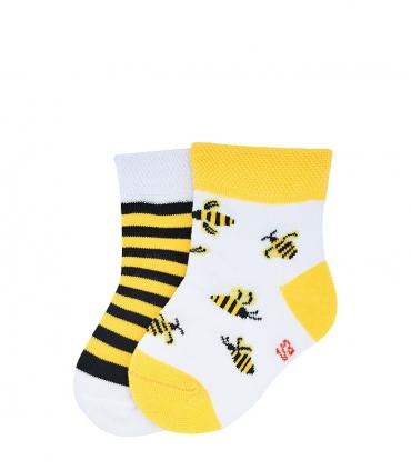 جوراب نانو بچگانه پاآرا طرح زنبور عسل
