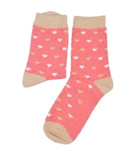 جوراب پشمی طرح قلب گلبهی
