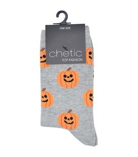 جوراب ساق دار Chetic چتیک طرح هالووین خاکستری