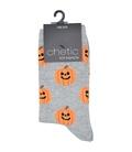 جوراب ساق دار Chetic طرح هالووین خاکستری