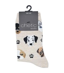 جوراب ساقدار Chetic چتیک طرح سگ و ردپا