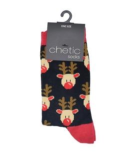 جوراب Chetic چتیک طرح گوزن کریسمس مشکی
