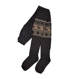 جوراب شلواری طرح گوزن قهوهای