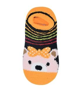 جوراب مچی بوکله کف استپدار طرح خرس زرد