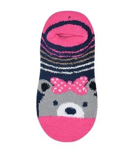 جوراب مچی بوکله کف استپدار طرح خرس صورتی