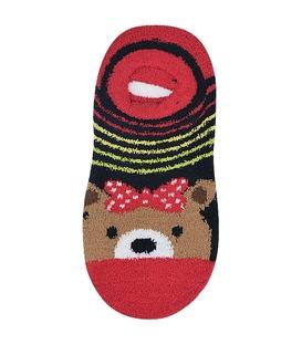 جوراب مچی بوکله کف استپدار طرح خرس قرمز