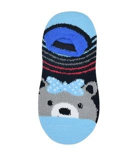 جوراب مچی بوکله کف استپدار طرح خرس آبی کم رنگ