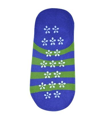 جوراب حولهای کف استپدار طرح خرسی آبی