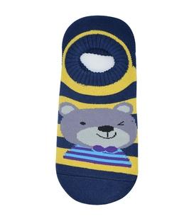 جوراب حولهای کف استپدار طرح خرسی سرمهای