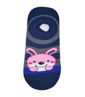 جوراب حولهای کف استپدار طرح خرگوش سرمهای