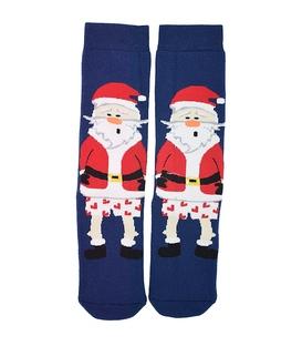جوراب حولهای طرح بابانوئل متعجب سرمهای